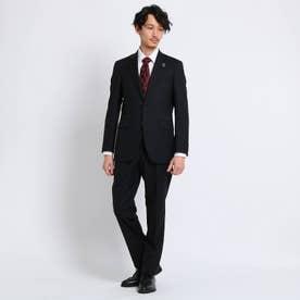 【Sサイズ~】市松紋 セットアップスーツ (ブラック)