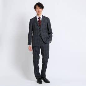グレンチェックスーツ Fabric by MIYUKI Bemback(R) (チャコールグレー)