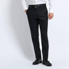 【Sサイズ~】シャイニーヘリンボンストライプ パンツ (ブラック)
