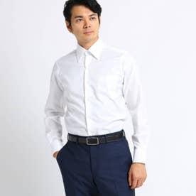 【Sサイズ~】市松紋柄 ビジネスシャツ (ホワイト)