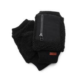 ICポケット付きスマホグローブ (ブラック)