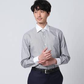 ロンドンストライプクレリックシャツ (ブラック)