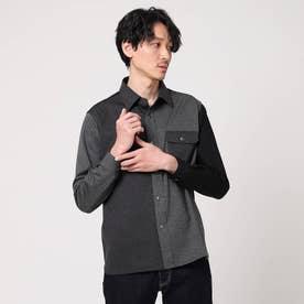 クレイジーパターンカットソーシャツ (チャコールグレー)
