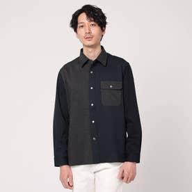 クレイジーパターンカットソーシャツ (ネイビー)