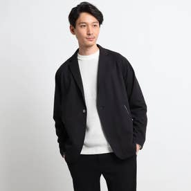 ミニ裏毛カットソージャケット (ブラック)