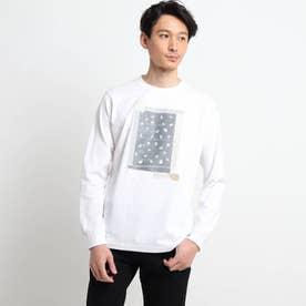 【Sサイズ~】パッチワークプリントロンT (ホワイト)