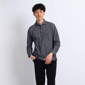 【Sサイズ~】ハニカム長袖ポロシャツ (ネイビー)