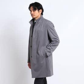 【Sサイズ~】メランジスタンドカラーコート (ダークグレー)