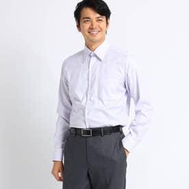 【Sサイズ~】市松紋柄 ビジネスシャツ (ライトパープル)
