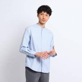 ストライプバンドカラーシャツ (サックス)