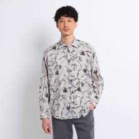 レーヨンフラワープリントシャツ (ベージュ)