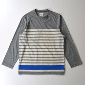長袖クルーネックTシャツ (杢グレー)