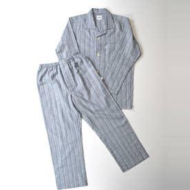 長袖テーラードパジャマ (杢グレー)
