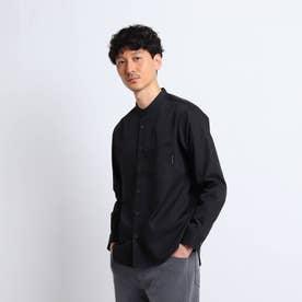【Sサイズ~】クレンゼ(R)バンドカラーシャツ (ブラック)