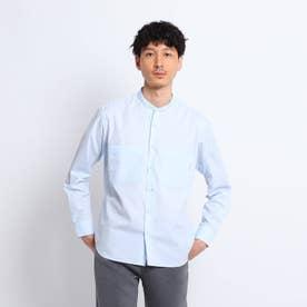 【Sサイズ~】クレンゼ(R)バンドカラーシャツ (ブルー)