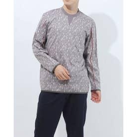 長袖クルーネックシャツ (グレー)