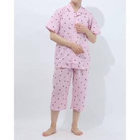 半袖半パンツテーラードパジャマ (ピンク)