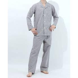 長袖テーラードパジャマ (グレー)