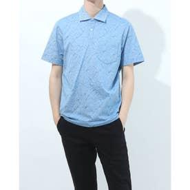 半袖襟付きシャツ (ブルー)