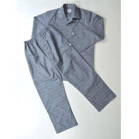 長袖テーラードパジャマ (チャコール)