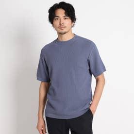 ホールガーメント(R) ニットTシャツ (ライトブルー)