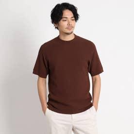 ホールガーメント(R) ニットTシャツ (ダークブラウン)