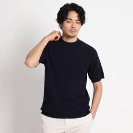 ホールガーメント(R) ニットTシャツ (ダークネイビー)