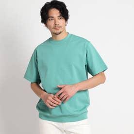【大きいサイズ】ポンチ カットソー (ライトグリーン)