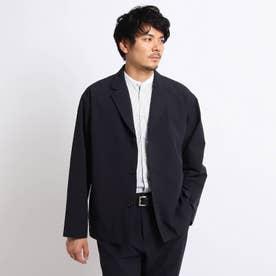 4WAY リップストップ シャンブレー シャツジャケット (ブラック)