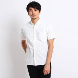 度詰め鹿の子 カットソーシャツ (ホワイト)