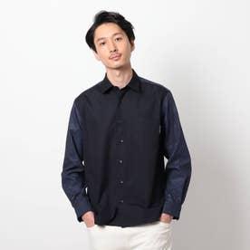 【大きいサイズ】カモフラージュ サッカー ドッキングシャツ (ネイビー)