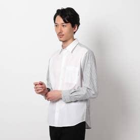 【大きいサイズ】カモフラージュ サッカー ドッキングシャツ (ホワイト)