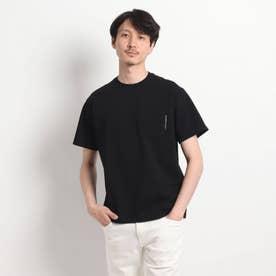 【Sサイズ~】度詰め鹿の子 ポケットTシャツ (ブラック)