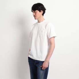 【Sサイズ~】度詰め鹿の子 ポケットTシャツ (ホワイト)