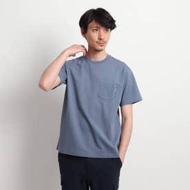 【Sサイズ~】度詰め鹿の子 ポケットTシャツ (ライトブルー)