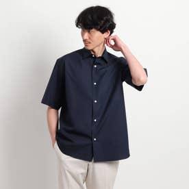 オーバーサイズ 半袖シャツ (ダークネイビー)