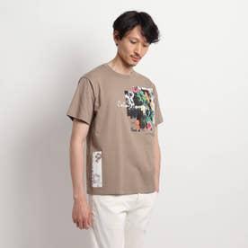 【Sサイズ~】マルチフォトプリントTシャツ (サンドベージュ)