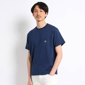 【Sサイズ~】クラシックワンポイント ポケットTシャツ (ネイビー)