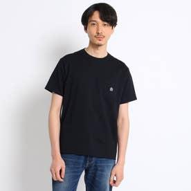 【Sサイズ~】クラシックワンポイント ポケットTシャツ (ブラック)