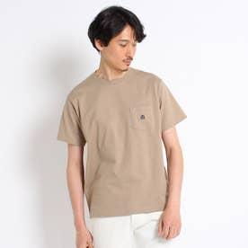 【Sサイズ~】クラシックワンポイント ポケットTシャツ (ベージュ)