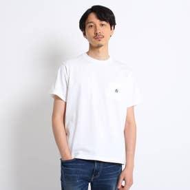 【Sサイズ~】クラシックワンポイント ポケットTシャツ (ホワイト)