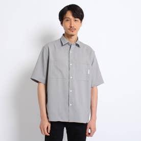 【Sサイズ~】リネンライク リラックス シャツ (グレー)