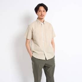 ハケメシャツ (タバコブラウン)