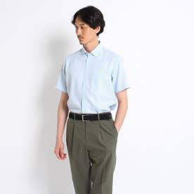 カラミ織り シャツ (ブルー)