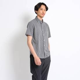 千鳥プリント カノコ シャツ (ブラック)