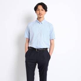 【抗菌防臭】シャドーストライプシャツ (ライトブルー)