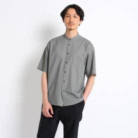 カノコカットソー バンドカラーシャツ (グレー)
