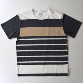 ドロップショルダー半袖クルーネックTシャツ (チャコール)