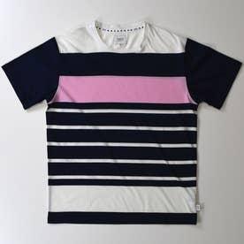 ドロップショルダー半袖クルーネックTシャツ (コン)