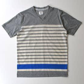 半袖VネックTシャツ (杢グレー)